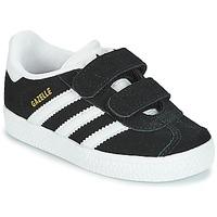 kengät Lapset Matalavartiset tennarit adidas Originals GAZELLE CF I Musta