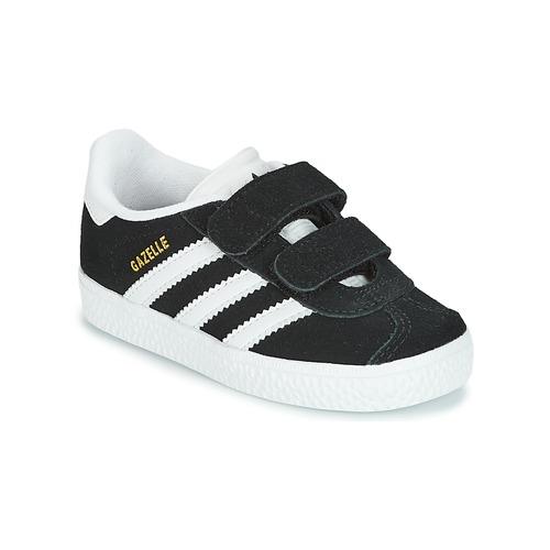 kengät Lapset Matalavartiset tennarit adidas Originals GAZELLE CF I Black