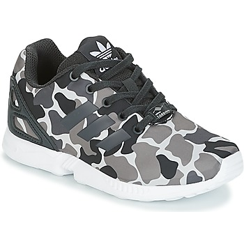 kengät Pojat Matalavartiset tennarit adidas Originals ZX FLUX C Black / White