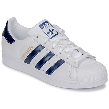 kengät Matalavartiset tennarit adidas Originals SUPERSTAR White / Blue