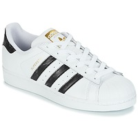 kengät Matalavartiset tennarit adidas Originals SUPERSTAR White   Black fc53d41736