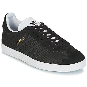 kengät Naiset Matalavartiset tennarit adidas Originals GAZELLE W Black