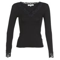 vaatteet Naiset T-paidat pitkillä hihoilla Morgan TRACY Black
