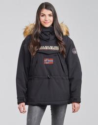 vaatteet Naiset Parkatakki Napapijri SKIDOO Black