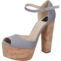 kengät Naiset Sandaalit ja avokkaat Islo sandali nero tessuto bianco BZ223 Nero