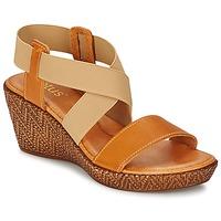 kengät Naiset Sandaalit ja avokkaat Lotus EMILIANO Brown / BEIGE