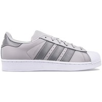 kengät Lapset Matalavartiset tennarit adidas Originals Superstar J Harmaat, Hopeanväriset