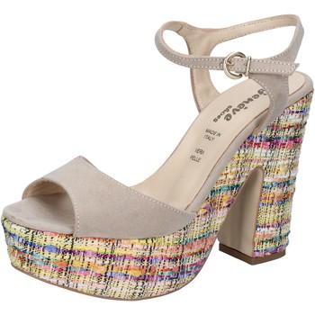 kengät Naiset Sandaalit ja avokkaat Geneve Shoes sandali beige camoscio BZ890 Beige