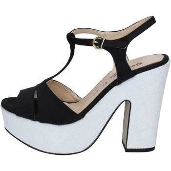 kengät Naiset Sandaalit ja avokkaat Geneve Shoes sandali nero camoscio bianco BZ897 Multicolore