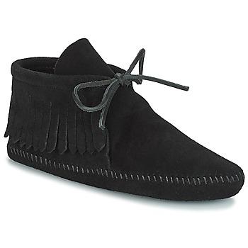 kengät Naiset Bootsit Minnetonka CLASSIC FRINGE Musta