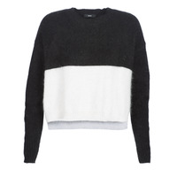 vaatteet Naiset Neulepusero Diesel M AIRY Black / White
