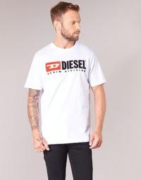 vaatteet Miehet Lyhythihainen t-paita Diesel T JUST DIVISION White