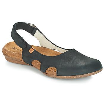 kengät Naiset Sandaalit ja avokkaat El Naturalista WAKATAUA Black