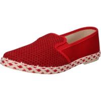 kengät Miehet Tennarit Caffenero slip on rosso tela AE159 Rosso