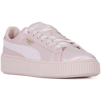 kengät Naiset Matalavartiset tennarit Puma BASKET PLATFORM TWEEN JR Rosa