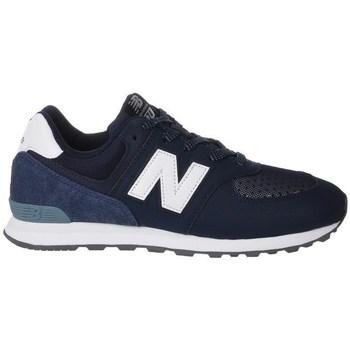 kengät Lapset Matalavartiset tennarit New Balance GC574D4 Valkoiset,Tummansininen