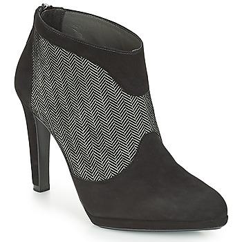 kengät Naiset Nilkkurit Peter Kaiser PATRINA Black / Grey