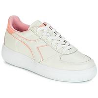 kengät Naiset Matalavartiset tennarit Diadora B.ELITE L WIDE WN Ecru / Pink