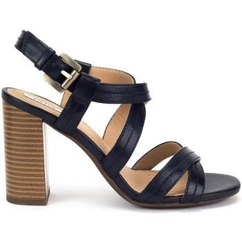 kengät Naiset Sandaalit ja avokkaat Geox Audalies High Sand Mustat