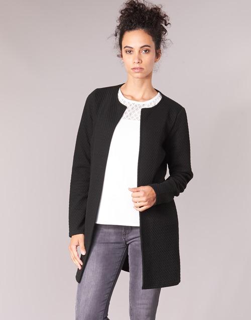 vaatteet Naiset Takit / Bleiserit Vila VINAJA LONG Black
