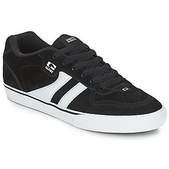 kengät Miehet Matalavartiset tennarit Globe ENCORE 2 Black / White