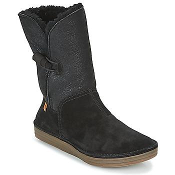 kengät Naiset Bootsit El Naturalista RICE FIELD Musta