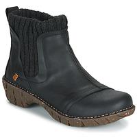 kengät Naiset Bootsit El Naturalista YGGDRASIL Musta