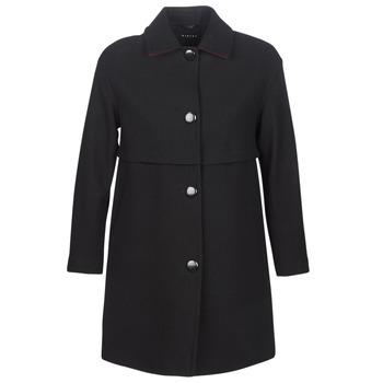vaatteet Naiset Paksu takki Sisley FAREDA Musta