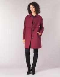 vaatteet Naiset Paksu takki Sisley FAREDA Viininpunainen