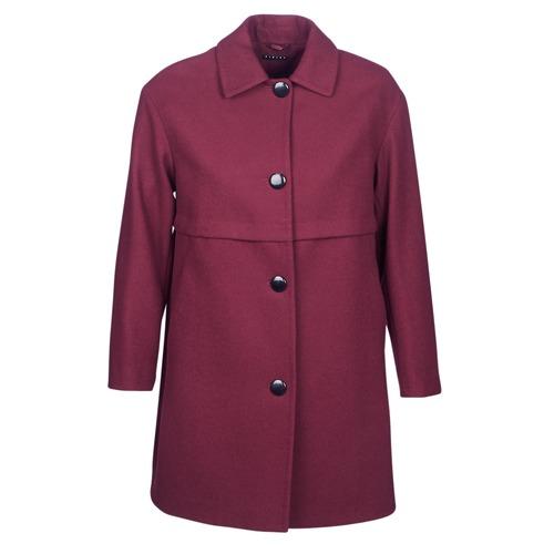 Sisley Fareda Bordeaux - Ilmainen Toimitus- Vaatteet Paksu Takki Naiset 109