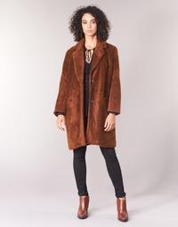 vaatteet Naiset Paksu takki See U Soon REVENTA Brown