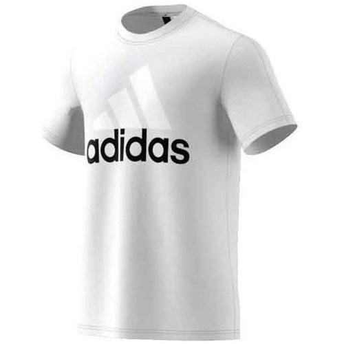 vaatteet Miehet Lyhythihainen t-paita adidas Originals Performance Essentials Linear Tee Valkoiset