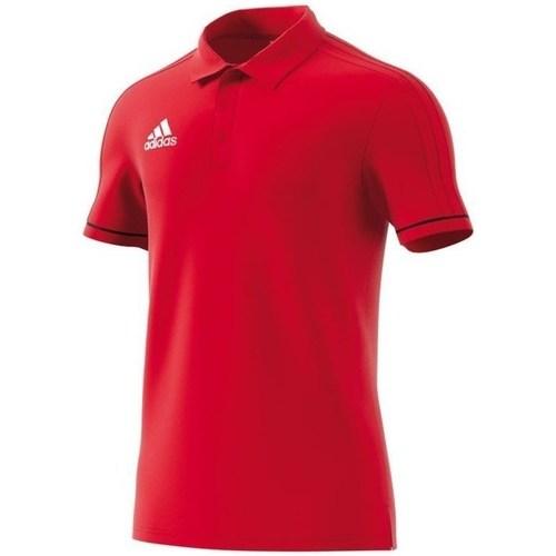 vaatteet Miehet Lyhythihainen poolopaita adidas Originals Polo Tiro 17 Punainen