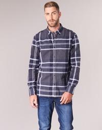 vaatteet Miehet Pitkähihainen paitapusero Oxbow CAMPO Laivastonsininen
