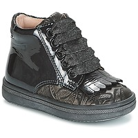 kengät Tytöt Korkeavartiset tennarit Acebo's DOLAGIRI Black / Hopea