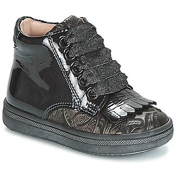 kengät Tytöt Korkeavartiset tennarit Acebo's DOLAGIRI Black / Silver