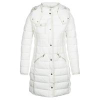 vaatteet Naiset Toppatakki Desigual INGA White