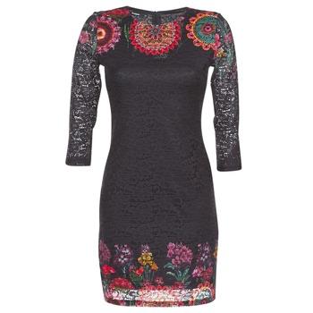 vaatteet Naiset Lyhyt mekko Desigual DARINA Black