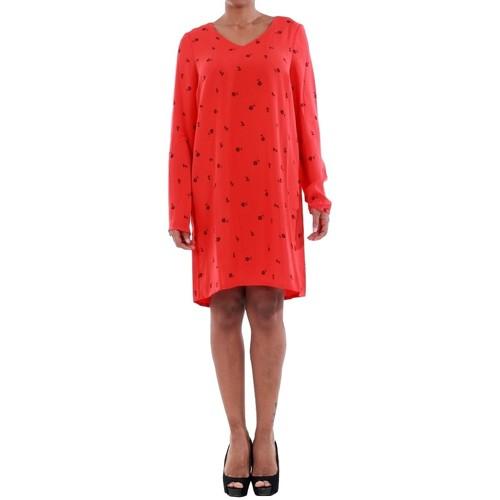 vaatteet Naiset Mekot Vero Moda 10191185 VMSISSY 3/4 MINI DRESS D2 LCS FLAME SCARLET Rojo