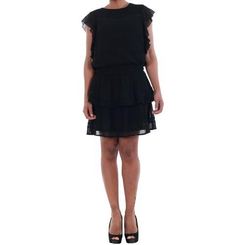 vaatteet Naiset Mekot Vero Moda 10193957 VMARUBA S/S SHORT DRESS SB8 BLACK Negro