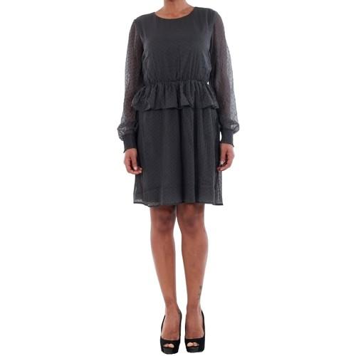 vaatteet Naiset Mekot Vero Moda 10196226 VMKIM L/S SHORT DRESS O17 ASPHALT Gris oscuro