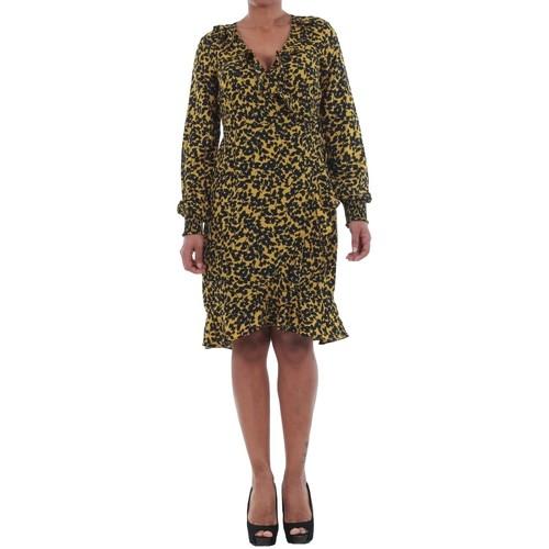 vaatteet Naiset Mekot Vero Moda 10198721 VMHENNA FIFI SMOCK L/S SHORT DRESS MANGO MOJITO/LEISE Amarillo