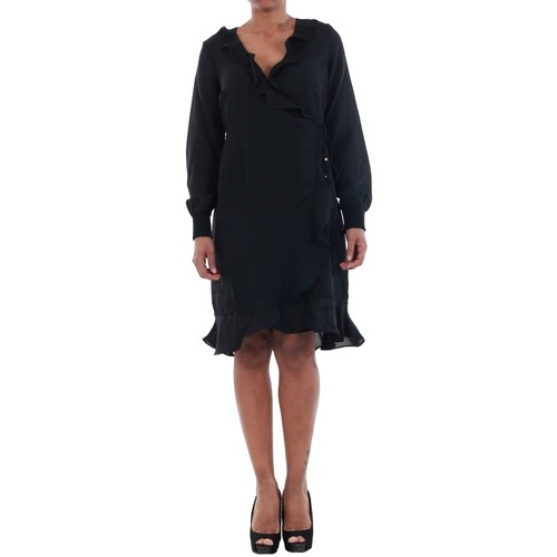 vaatteet Naiset Mekot Vero Moda 10198721 VMHENNA FIFI SMOCK L/S SHORT DRESS SB2 BLACK Negro