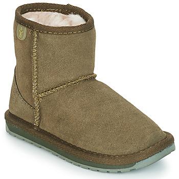 kengät Tytöt Bootsit EMU WALLABY MINI Kaki