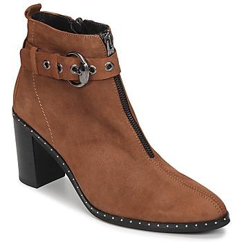 kengät Naiset Nilkkurit Philippe Morvan AXEL V4 CHEV VEL Camel