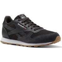 kengät Lapset Matalavartiset tennarit Reebok Sport CL Leather Estl Mustat, Grafiitin väriset