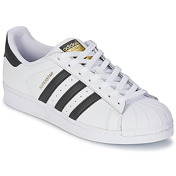 kengät Matalavartiset tennarit adidas Originals SUPERSTAR White / Black