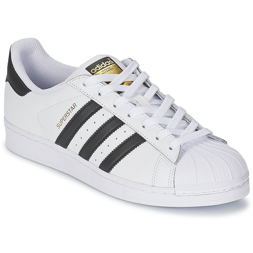 free shipping 10bf1 885de kengät Matalavartiset tennarit adidas Originals SUPERSTAR White   Black