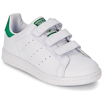kengät Pojat Matalavartiset tennarit adidas Originals STAN SMITH CF C White / Green