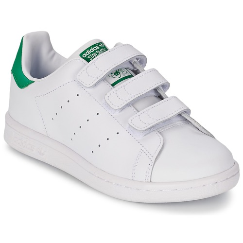 kengät Lapset Matalavartiset tennarit adidas Originals STAN SMITH CF C White / Green